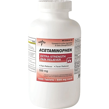 Acetaminophen Extra Strength Tablets, 1000 Tablets per Bottle