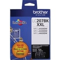 Brother LC207 Black ink Cartridge (LC2072PKS), Super High Yield, 2/Pack