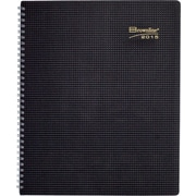 Brownline® 2015 Duraflex Monthly Planner, Textured Poly Cover, Black, 11 x 8-1/2