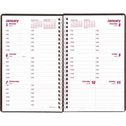2015 Brownline® Duraflex Weekly Planner, Durable Textured Poly Cover, Black, 8 x 5