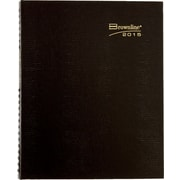 2015 Brownline® CoilPro® Hard Cover Monthly Planner, Black, 8-7/8 x 7-1/8
