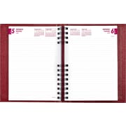 2015 Brownline® CoilPro™  Hard Cover Daily Planner, Red, 8-1/4 x 5-3/4