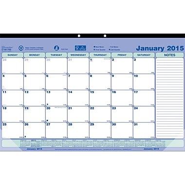 2015 Brownline® Monthly Desk Pad, 17-3/4in. x 10-7/8in.