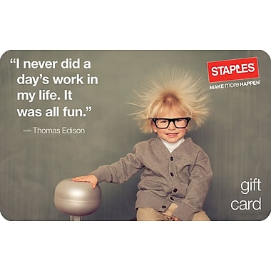 Staples® Back to School Edison Gift Cards