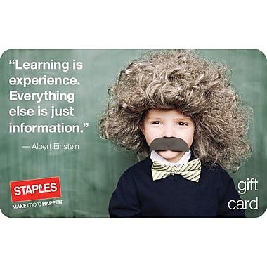Staples® Back to School Einstein Gift Cards