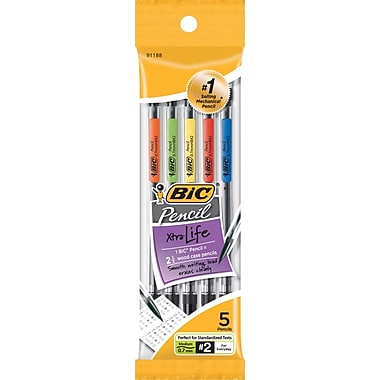 BIC® Mechanical Pencils, 0.7mm, 5/Pack