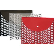 Pendaflex® Fashion Snap Envelopes, Letter Size, Assorted Colors, 3/Pack (41415)
