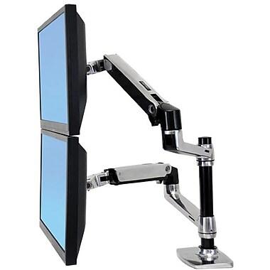 Ergotron® 45248026 Articulating Dual Stacking Arm, 40 lbs.
