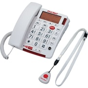 First Alert Big Button Telephone with Emergency Key and Remote Pendant