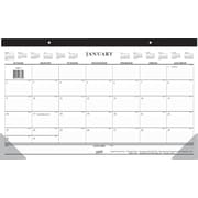 Staples® 2015 Compact Monthly Desk Pad, January - December, White, 17 3/4 x 10 7/8