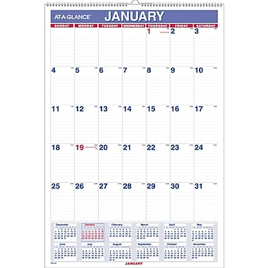 2015 AT-A-GLANCE® Monthly Wall Calendar, 15-1/2in. x 22 3/4in.