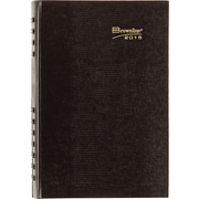 2015 Brownline® CoilPro® Hard Cover Daily Planner, 8 x 5, Black