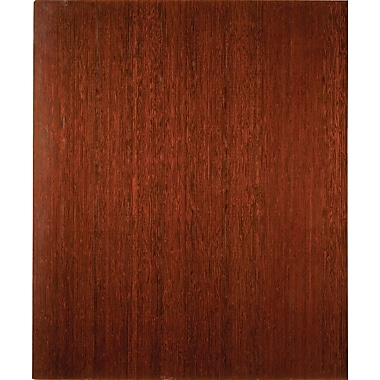 Anji Mountain Deluxe Roll-Up Bamboo Chair Mat, Rectangular, 42in. x 48in., Dark Cherry