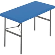 IndestrucTable TOO Folding Table,1200 Series - Blue - 30 x 60