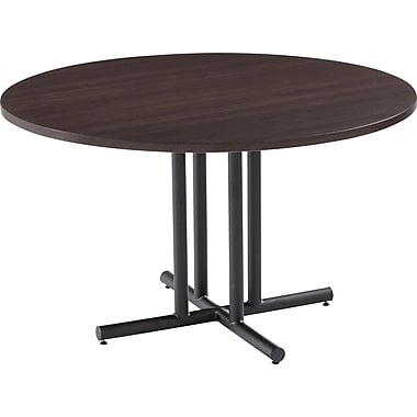 42in. Round OfficeWorks Table Top, Espresso- Square