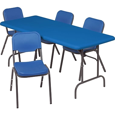 IndestrucTable TOO Folding Table,1200 Series - Blue - 30