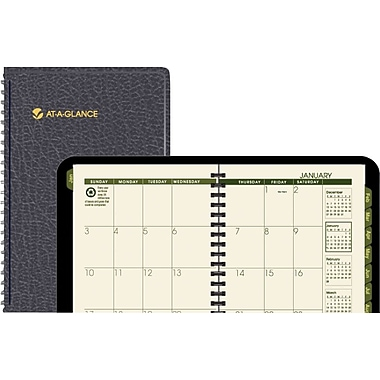 2015 AT-A-GLANCE® Weekly/Monthly Appointment Book, Black, 4 7/8in. x 8in.
