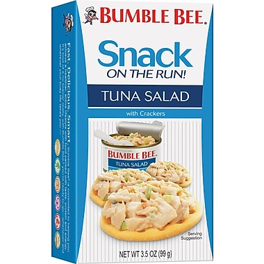 Bumble Bee® Tuna Salad with Crackers, 3.5 oz. Packs, 12 Packs/Box