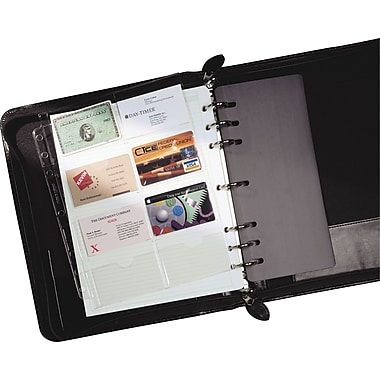 Day-Timer® Business Card Holder, Folio Size, 8-1/2