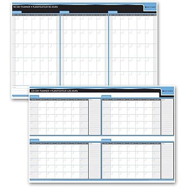 Day-Timer – Planificateur souple réversible 90/120 jours, 24 po x 36 po, bilingue