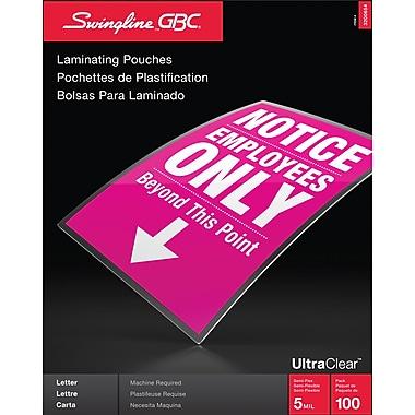 Swingline - Pochette de plastification à chaud, format lettre, 5 mil, paq./100