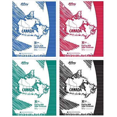 Hilroy Laminated Cover Canada Exercise Book, 10-7/8