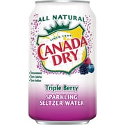 Canada Dry Triple Berry Sparkling Water 12oz 24/ct