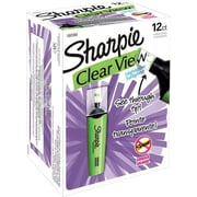 Sharpie Clear View Highlighters, Chisel Tip, Green, Dozen