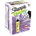 Sharpie Clear View Highlighters, Chisel Tip, Yellow, Dozen