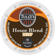 Tully's Coffee® House Blend Decaf Coffee K-Cups®, 96/Carton (192519)