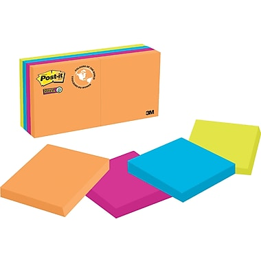 Post-it® Super Sticky Notes, Rio de Janeiro Collection, 2