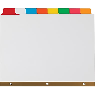 Staples® Write-On™ BIG TAB Dividers, 8-Tab Set, Color Tabs, 4/Pack