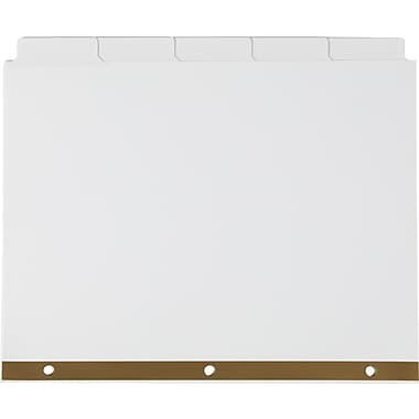 Staples Write-On™ BIG TAB 5-Tab Set Dividers, White Tabs, 4/Pack (13508)