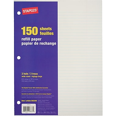 staples papier de rechange 150 feuilles pagetitle suffix