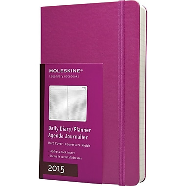 Moleskine 2015 Daily Planner, Magenta, 5in. x 8-1/4in., 12M Daily Planner