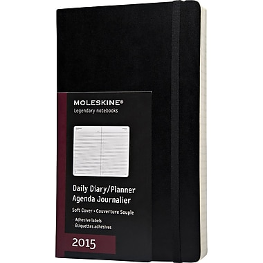 Moleskine 2015 Daily Planner, Black, 5in. x 8-1/4in., 12M Daily Planner