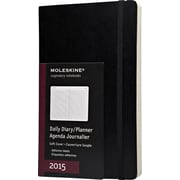 Moleskine 2015 Daily Planner, Black, 5 x 8-1/4, 12M Daily Planner