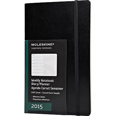 Moleskine 2015 Weekly Planner, Soft Cover, Black, 5in. x 8-1/4in., 12M Weekly Planner