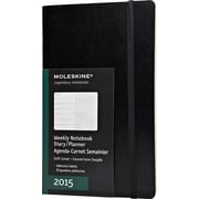 Moleskine 2015 Weekly Planner, Soft Cover, Black, 5 x 8-1/4, 12M Weekly Planner