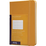 Moleskine 2015 Weekly Planner, Orange Yellow, 3-1/2 x 5-1/2, 12M Weekly Planner