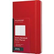 Moleskine 2015 Weekly Planner, Red, 5 x 8-1/4, 12M Weekly Planner