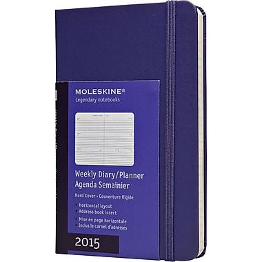 Moleskine 2015 Weekly Planner, Brilliant Violet, 3-1/2in. x 5-1/2in., 12M Weekly Planner