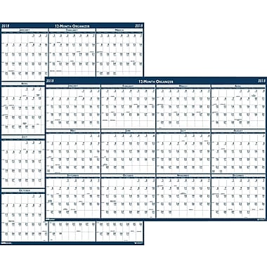House of Doolittle™ 2015 , Monthly, January-December, Blue, Erasable Wall Calendar, 66in. x 33in.