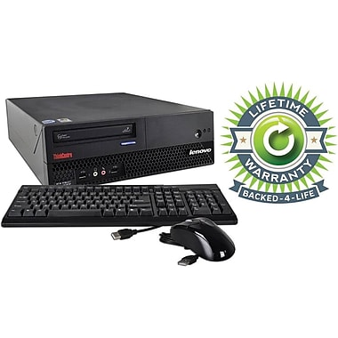 Refurbished Lenovo C2D SFF, 120GB Hard Drive, 2GB Memory, Intel Core 2 Duo, Win 7 Pro, Lifetime Warranty