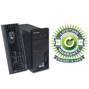 Refurbished Lenovo C2D Tower, 120GB Hard Drive, 2GB Memory, Intel Core 2 Duo, Win 7 Pro, Lifetime Warranty