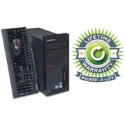 Refurbished Lenovo C2D Tower, 160GB Hard Drive, 4GB Memory, Intel Core 2 Duo, Win 7 Pro, Lifetime Warranty