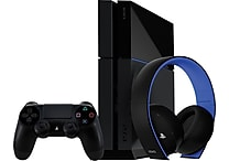Playstation 4 Console (PS4) 500GB Console with Wireless Gold Headset