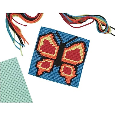 Craft EXpress Butterfly Needlepoint Craft Kit, 12/Pack