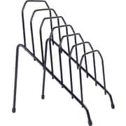 Staples Metal Incline Desktop File Sorter, 6 Compartments, Black (10856)