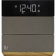 Soundfreaq Sound Rise Bluetooth bedroom Speaker with Alarm Clock, Wood and Taupe